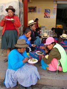 Eten op de Pisac markt