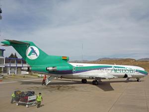 Vliegen - rondreis Bolivia en Peru