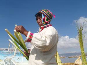 Titicaca Uros eiland