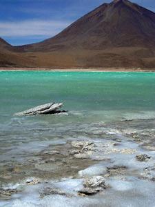Uyuni Verde laguna - Bolivia reis