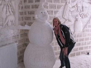 Sneeuwpop in het zouthotel