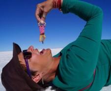 Fotograferen op de zoutvlakte in Bolivia