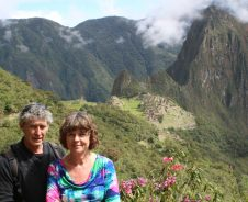 Op en top Machu Picchu
