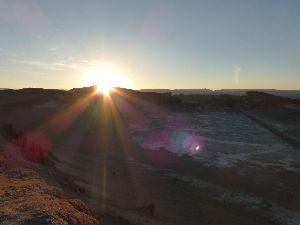 ondergaande zon in fotoboek