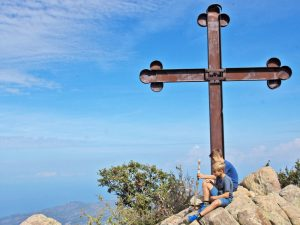 Sizilien Ätna Wanderung Tour Gipfelkreuz