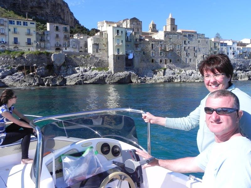 Bootsfahrt Cefalu Sizilien Ausflug Bootstour