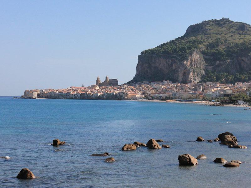 Cefalu Sizilien Rocco Italien Urlaub