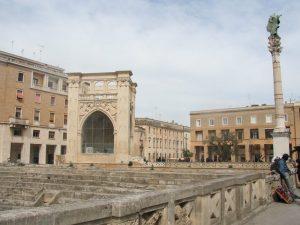 Lecce Urlaub Amphitheater Ruine Apulien