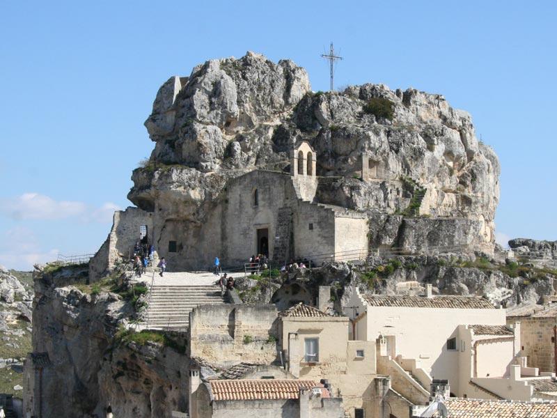 Matera Urlaub Felsenkirche Italien Rundreise