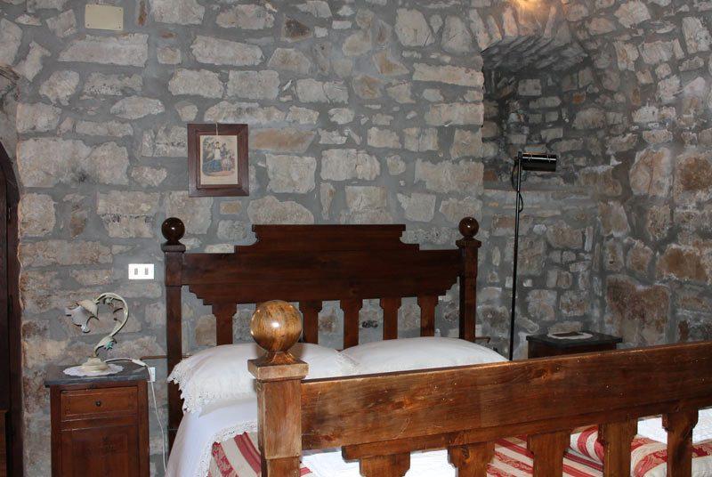 Italien Todi Burg Unterkunft Zimmer