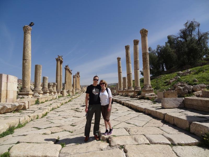 Die Ruinen von Jerash lassen eine einst imposante Stadt vermuten
