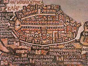 Jordanien Highlights Die St. Georg Kirche ist für das große, gut erhaltene Bodenmosaik bekannt