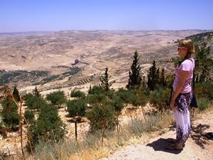 Madaba Die Sicht reicht bis nach Israel