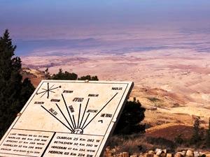 Vom Mount Nebo aus soll Moses das gelobte Land gesehen haben