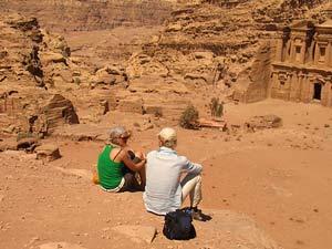 Die Stadt Petra ist riesig...