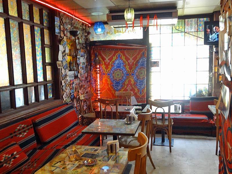 Restaurant unserer Budget-Unterkunft in Amman