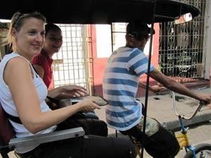 Mit dem Fahrradtaxi Camaguey entdecken