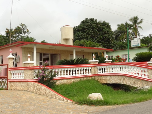 Blick auf eine Casa in Soroa auf Kuba