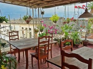 Veranda mit Aussicht in einer Casa in Santa Clara