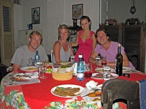 Geselliges Beisammensein Ihrer Gastfamilie