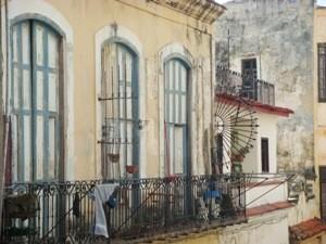 Häuserfassade in Havanna