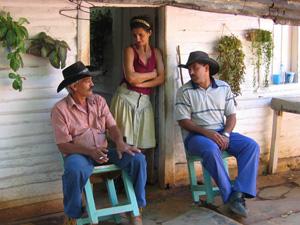 Kubaner auf einer Terasse