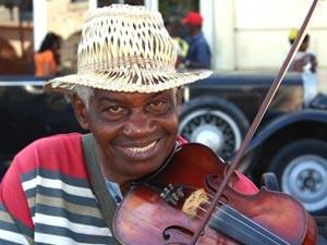 Straßenmusiker in Santiago de Cuba