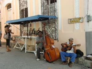 Straßenmusiker in Santiago