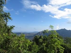 Aussicht auf die Berge der Sierra Maestra