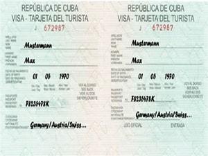Touristenkarte zur Einreise nach Kuba