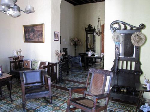 Wohnzimmer einer Casa in Trinidad