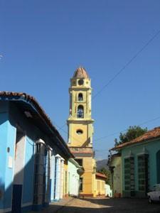 Farbenfrohe Häuser in Trinidad
