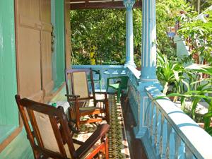 Veranda einer Casa in Baracoa