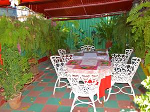 Terrasse einer Casa in Camaguey