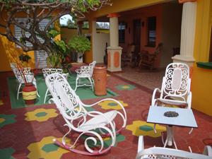 Terrasse einer Casa in Varadero