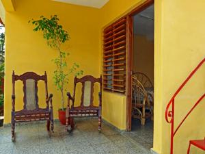 Terrasse einer Casa in Viñales