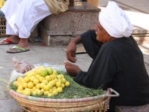 Landeskueche Auf einem typischen Markt
