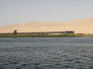 Ein Zug in Ägypten