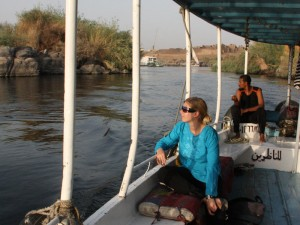 Ausflug auf dem Nil zu einem nubischem Dorf
