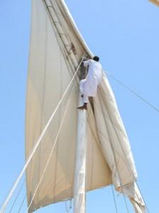 Segelschift auf dem Nil bei einer Ägypten Rundreise