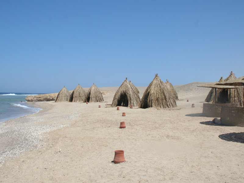 Häuser am al Quseir Meer in Ägypten