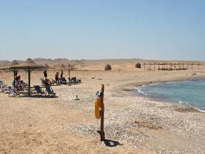 Strand in el Quseir in Ägypten