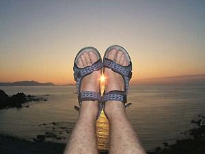 Reisekrankheiten Sonneuntergang