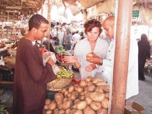 Auf dem Markt in Ägypten