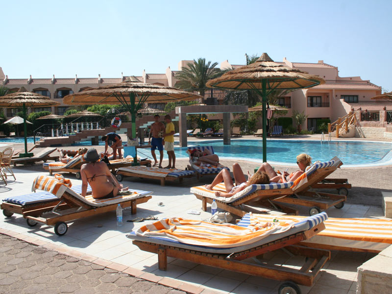 Resort und Pool in el Quseir