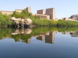 Der Philae Tempel bei Assuan in Ägypten
