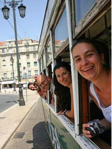 Fahrt durch Lissabon
