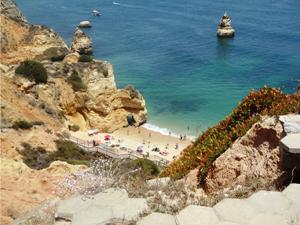 Badebucht an der Algarve