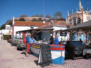 Sardinen Stand auf dem Markt