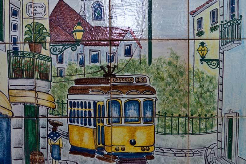 Warum nach Portugal reisen? Fliesen Straßenbahn